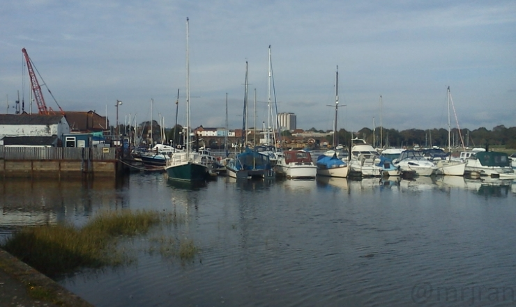 Fareham Marina and creek